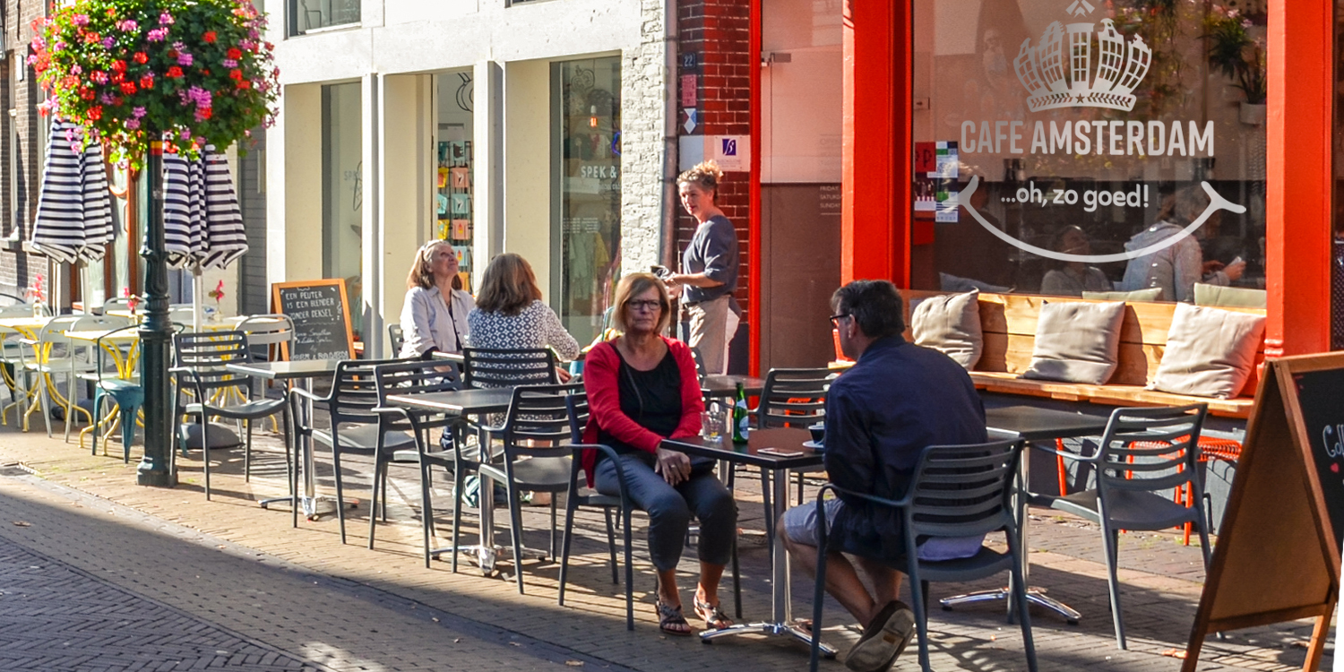 Picture yourself in a cafe in Amsterdam with just a bite of Cafe Amsterdam treats