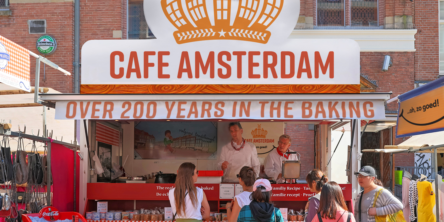 Cafe Amsterdam's best-known product, the Stroopwafel, can be enjoyed on-to-go!