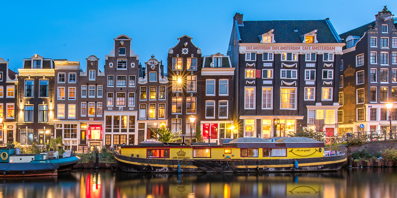 Experience Cafe Amsterdam any time — day or night!