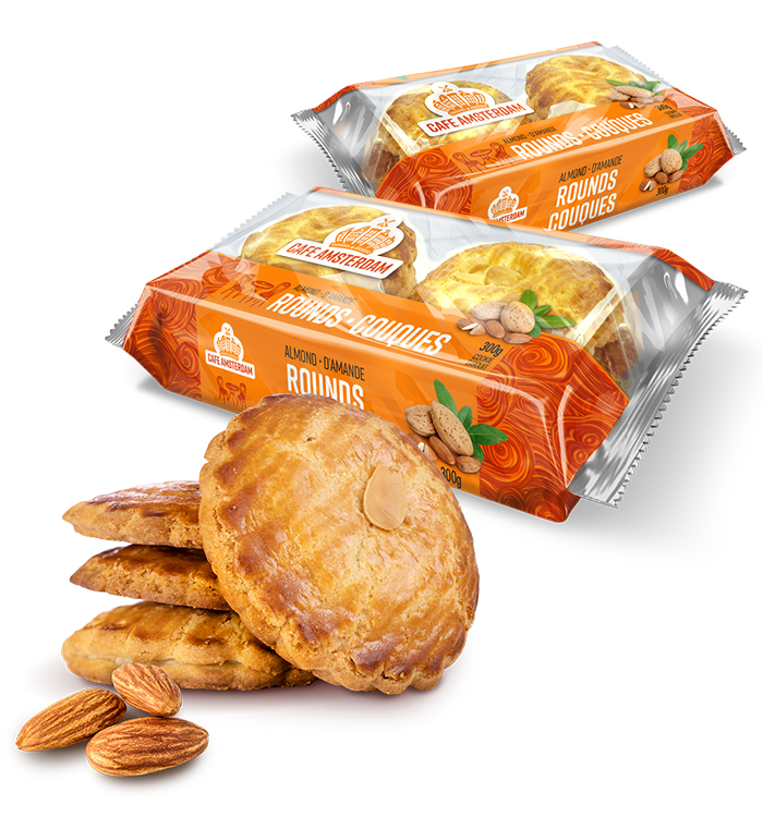 The Cafe Amsterdam Almond Rounds product family