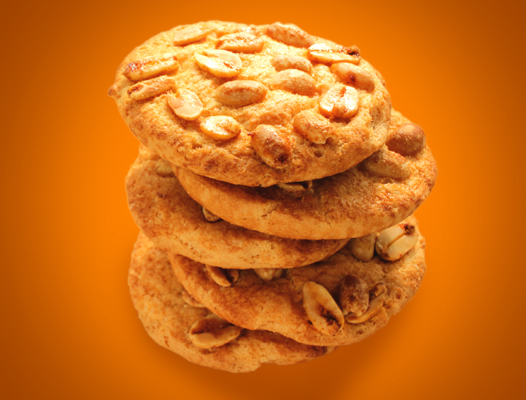 A stack of Peanut Koekies ready to eat!