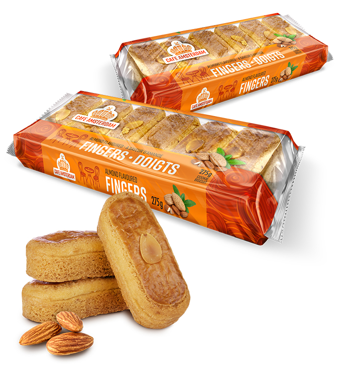 Cafe Amsterdam Almond Finger Family of products