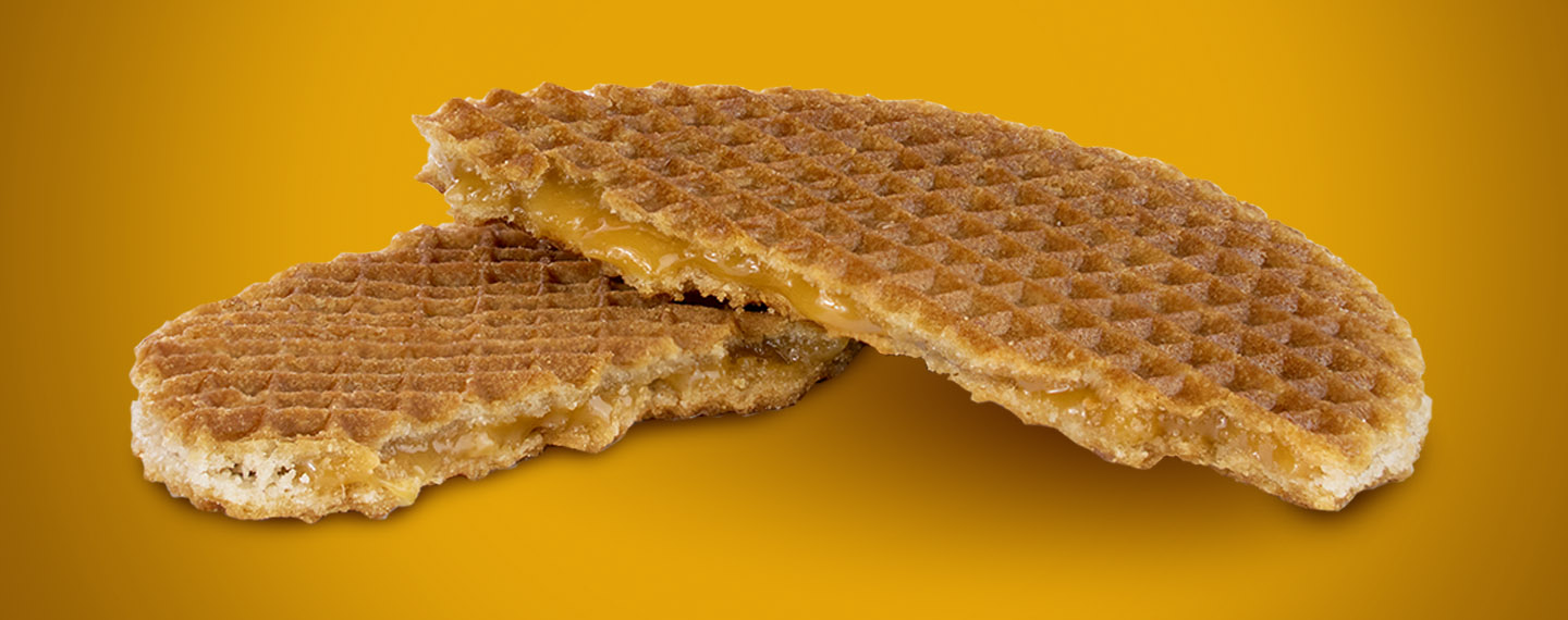 Each Stroopwafel is filled with a caramel syrup filling